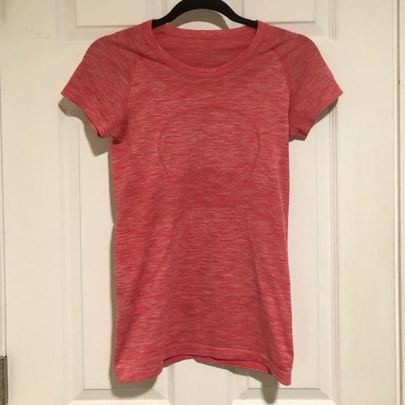 Lululemon swiftly tech t shirt short sleeve pink 6